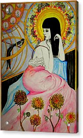 Acrylic Print featuring the painting Untitled Muse 1 by Josean Rivera