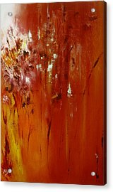Untitled Red Acrylic Print by Larry Ney  II