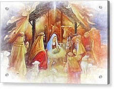 Unto Us A Savior Is Born Acrylic Print