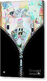 Unzipped Original Woman Acrylic Print