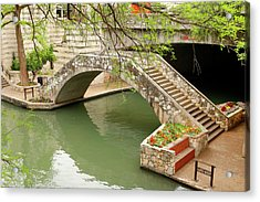 Acrylic Print featuring the photograph Up And Over - San Antonio River Walk by Art Block Collections