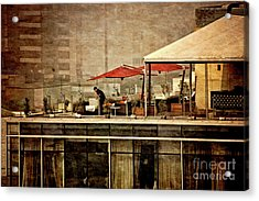 Acrylic Print featuring the photograph Up On The Roof - Miraflores Peru by Mary Machare