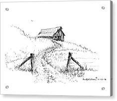 Up The Hill To The Old Barn Acrylic Print
