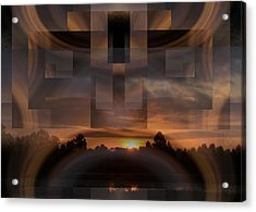 Up There In The Sky At Dawn Acrylic Print by rd Erickson