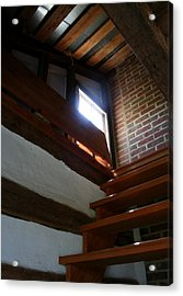 Up To The Attic Acrylic Print by Rebecca Smith