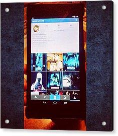 Update: Got A New 2013 Nexus 7 To Acrylic Print
