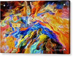 updated Our God is a Consuming Fire Acrylic Print