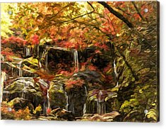 Upper Catawba Falls North Carolina Acrylic Print