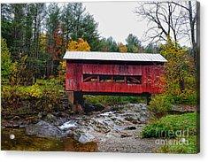 Upper Cox Brook Covered Bridge In Northfield Vermont Acrylic Print