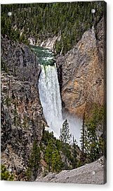 Acrylic Print featuring the photograph Upper Falls by John Gilbert
