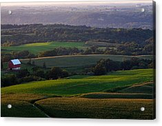 Upper Mississippi River Valley Hills Acrylic Print
