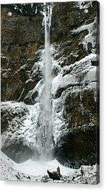 Upper Multnomah Falls Ice Acrylic Print