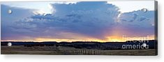 Upper Park Sunrise Acrylic Print by Richard Verkuyl