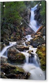 Acrylic Print featuring the photograph Upper Race Brook Falls 2017 by Bill Wakeley