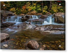 Acrylic Print featuring the photograph Upper Swift River Falls In White Mountains New Hampshire by Ranjay Mitra