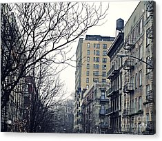 Upper West Side Winter Acrylic Print by Sarah Loft