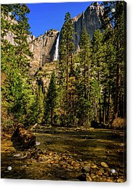 Upper Yosemite Falls From Yosemite Creek Acrylic Print