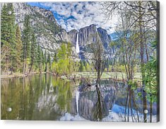 Acrylic Print featuring the photograph Upper Yosemite Falls In Spring by Scott McGuire
