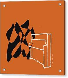 Upright Piano In Orange Acrylic Print