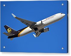 Ups Boeing 767-34af N332up Phoenix Sky Harbor January 12 2015 Acrylic Print by Brian Lockett