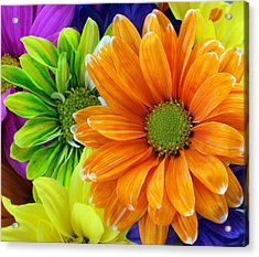 Upstaged By Orange Acrylic Print