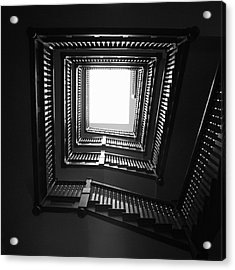 Upstairs- Black And White Photography By Linda Woods Acrylic Print