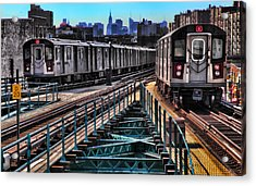 Uptown And Downtown Acrylic Print by June Marie Sobrito