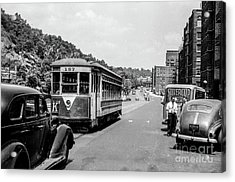 Acrylic Print featuring the photograph Uptown Trolley Near 193rd Street by Cole Thompson