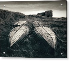 Upturned Boats Acrylic Print by Dave Bowman