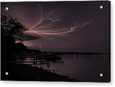 Upward Lightning Acrylic Print
