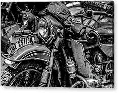 Acrylic Print featuring the photograph Ural Patrol Bike by Anthony Citro