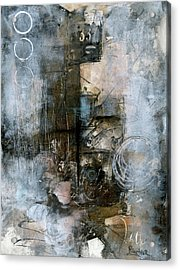 Urban Abstract Cool Tones Acrylic Print