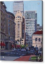 Urban Canyon - Saint James Street, Boston Acrylic Print