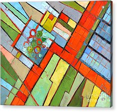 Urban Composition - Abstract Zoning Plan Acrylic Print by Mona Edulesco