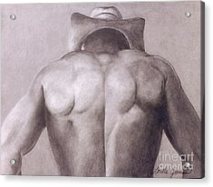 Urban Cowboy Acrylic Print by Lorelle Gromus