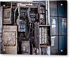 Urban Decay  Fuse Box Acrylic Print by Edward Myers