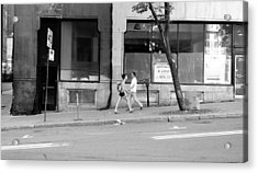 Acrylic Print featuring the photograph Urban Encounter by Valentino Visentini