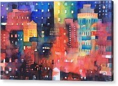 urban landscape 8 - Shadows and lights Acrylic Print by Alessandro Andreuccetti