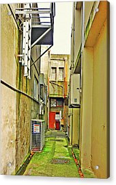 Urban Landscape-blind Alley Acrylic Print by Kenneth William Caleno