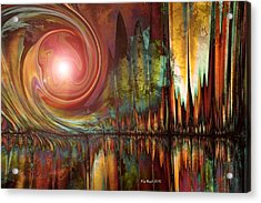 Acrylic Print featuring the digital art Urban Legend by Kim Redd