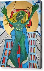 Urban Legends Ny Acrylic Print by Krisztina Asztalos