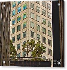 Urban Living In San Francisco Financial District Acrylic Print by Mark Hendrickson