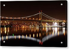 Urban Night Reflection Acrylic Print