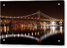 Urban Night Reflection Acrylic Print