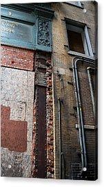 Urban Reconstruction Acrylic Print by Denise McKay