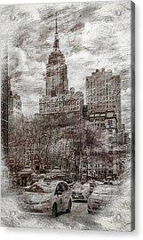 Urban Rush Acrylic Print by Az Jackson