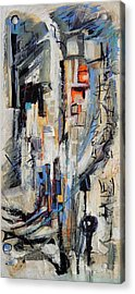 Acrylic Print featuring the painting Urban Street 2 by Mary Schiros
