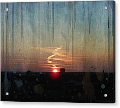Acrylic Print featuring the painting Urban Sunrise by Ivana Westin
