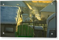 Urban Winter Landscape Uk Acrylic Print by Aleck Rich Seddon