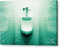 Urinal In Men's Restroom. Acrylic Print by John Greim